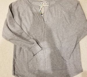 NWT VS DREAM ANGELS PULLOVER TUNIC GRAY WINGS S